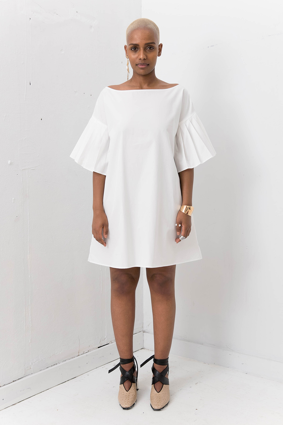 Silvae Sola Shirt Dress White