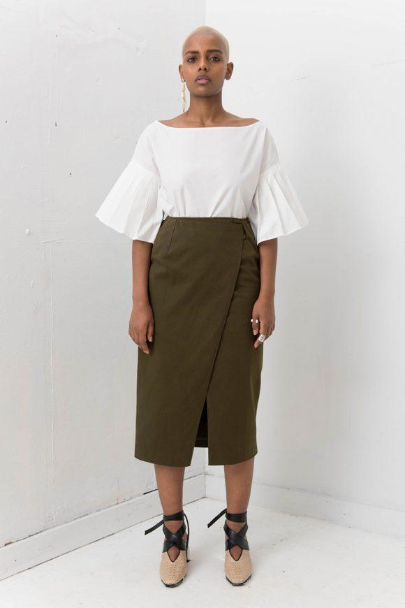 Silvae Sola Shirt Dress White
