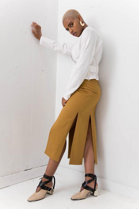 Silvae Najas Skirt Camel